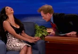 Conan Can't Stop Staring At Nicole Scherzinger's Boobs (VIDEO)
